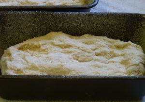 English-Muffins-in-a-Loaf-batter-in-pan